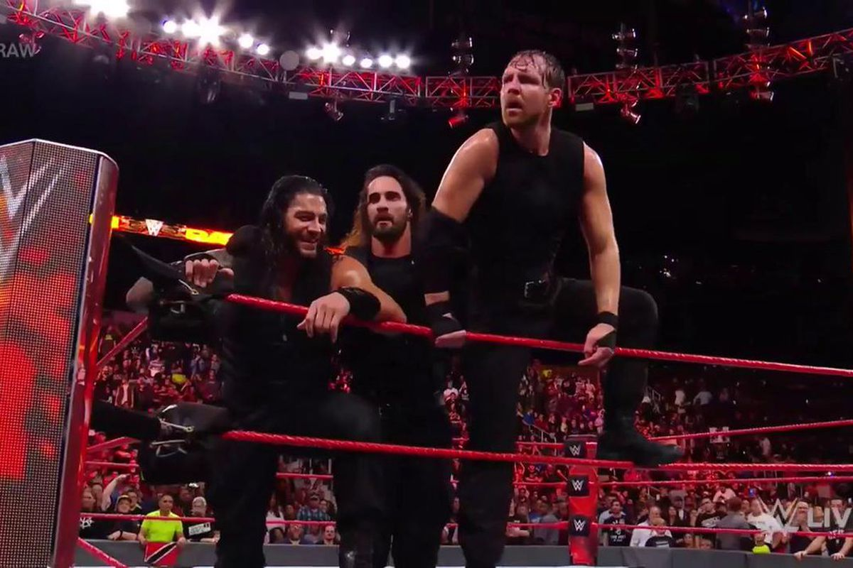 the shield win their first match together in three years cageside seats. Black Bedroom Furniture Sets. Home Design Ideas