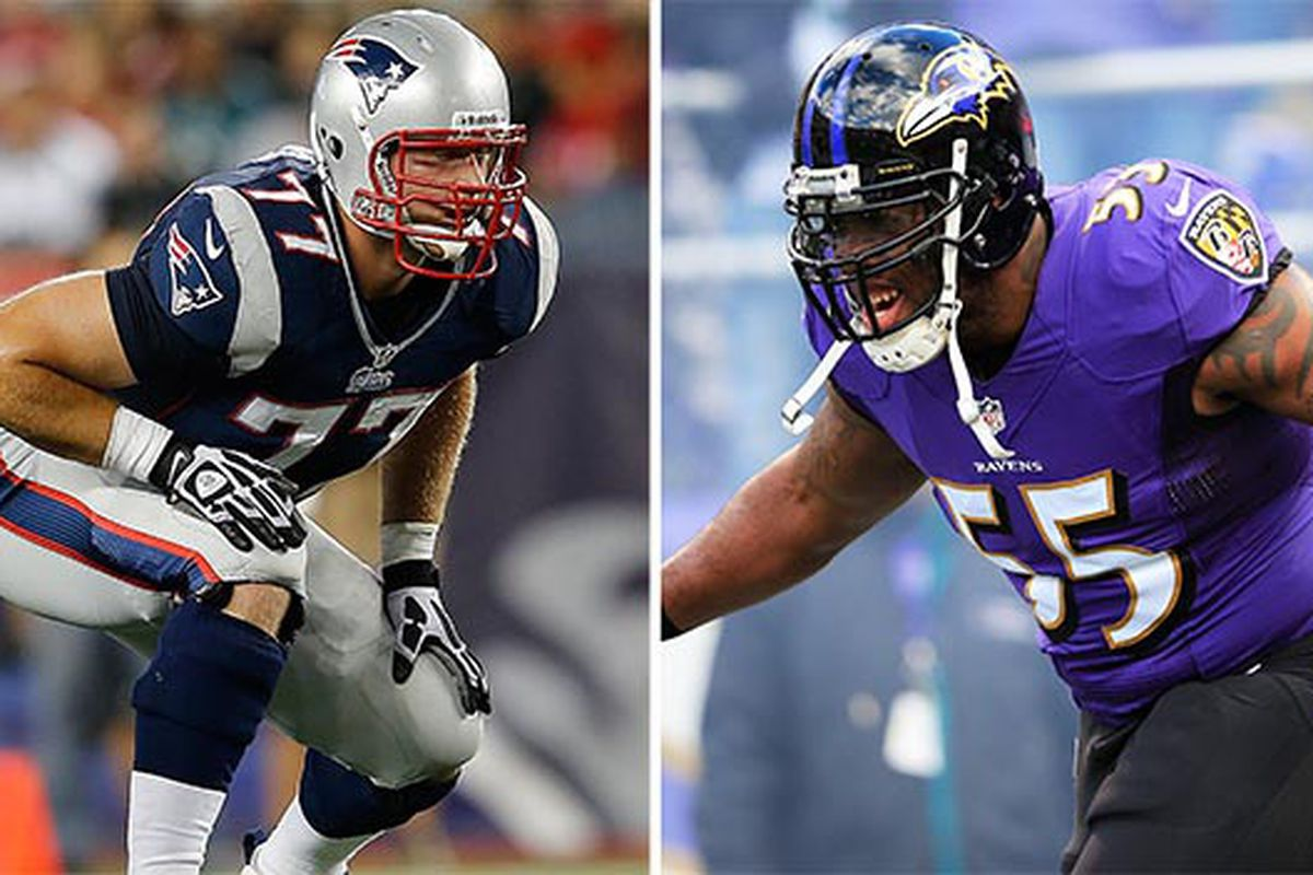 Key Match Up Nate Solder vs Terrell Suggs Pats Pulpit