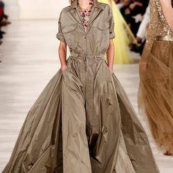 Safari goes gown at Ralph Lauren. Photo: Getty.