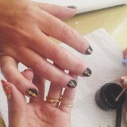 I like to get manicures every week. I always change it up. This week it was nail art.
