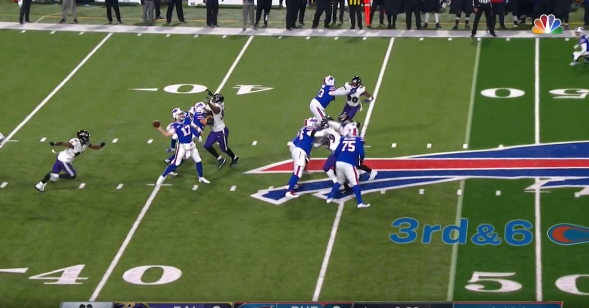 This incomplete 60-yard pass by Josh Allen is actually worth watching
