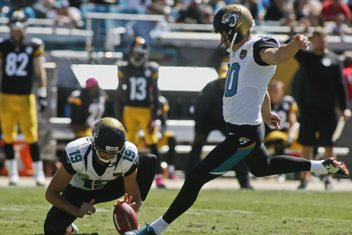 a161f0523 Pittsburgh Steelers pick up kicker Josh Scobee via trade with the  Jacksonville Jaguars