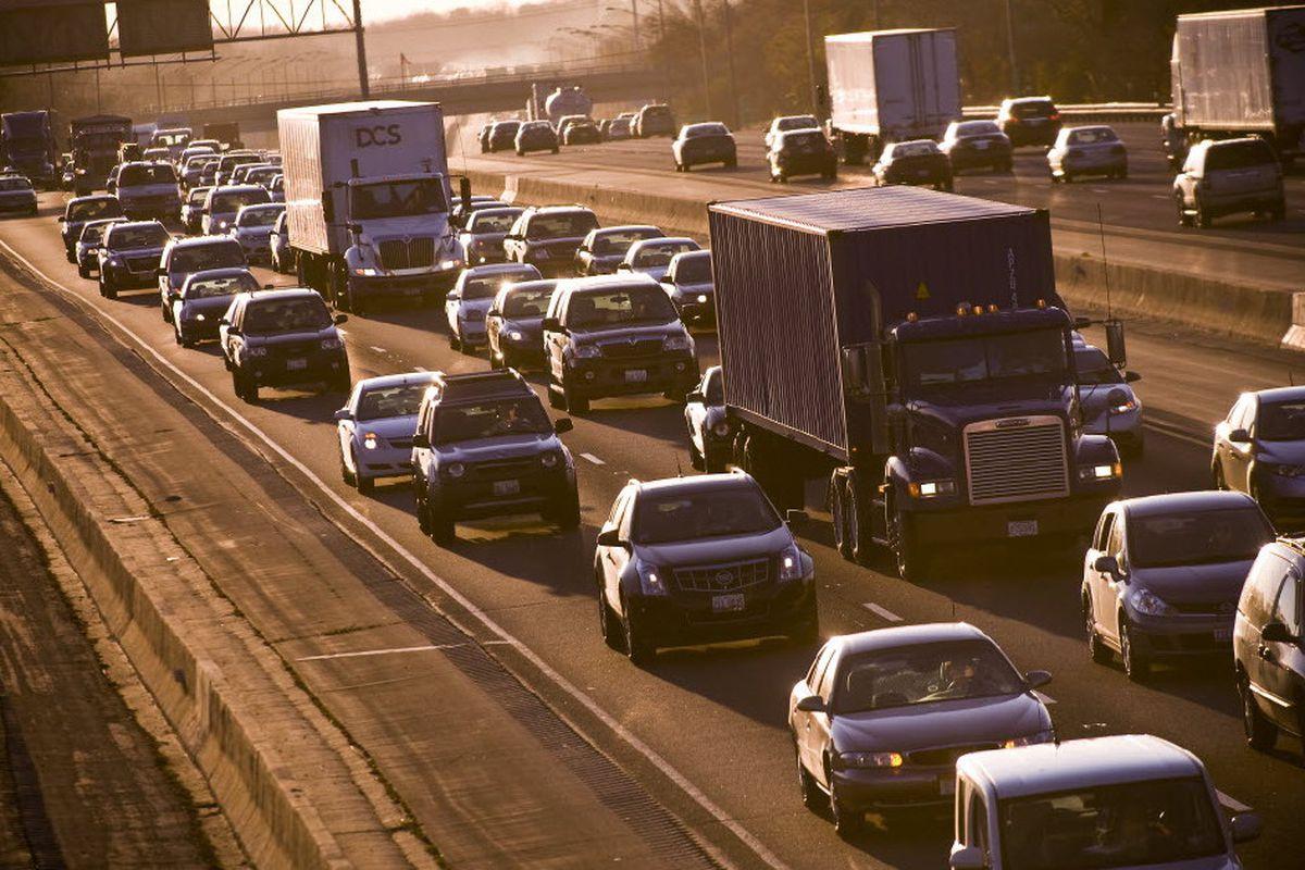 Lanes were closed on eastbound Interstate 80 Sept. 26, 2019, for a crash near Harlem Avenue.