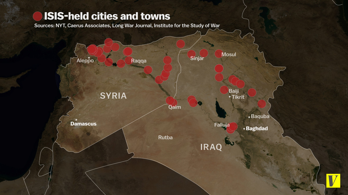ISIS-held cities and towns