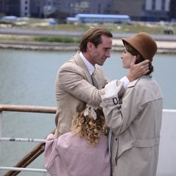 """Joseph Fiennes and Elizabeth Arends star as Eric and Florence Liddell in """"On Wings of Eagles."""""""