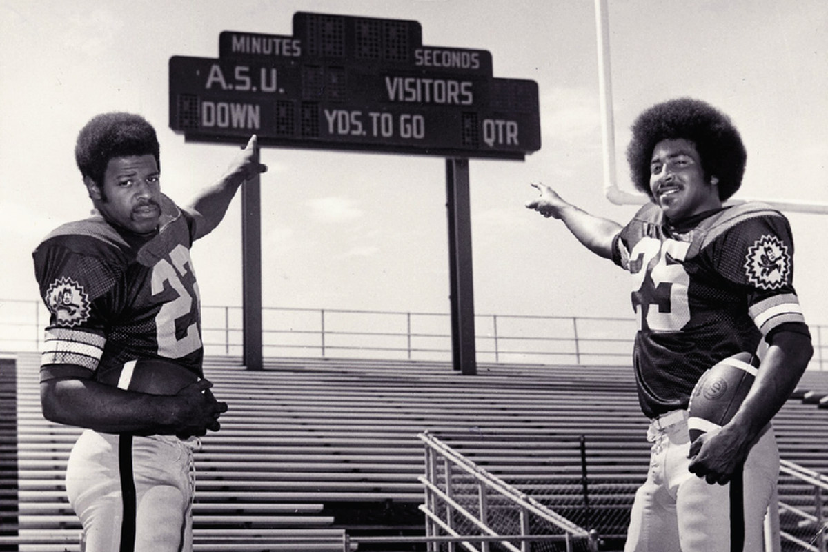 Woody Green & Steve Holden wearing some great jerseys (Photo: ASU)