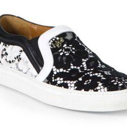 "<b>Givenchy</b> Canvas Print & Leather Slip On Sneakers, <a href=""http://www.saksfifthavenue.com/main/ProductDetail.jsp?FOLDER%3C%3Efolder_id=2534374306561744&PRODUCT%3C%3Eprd_id=845524446552112&R=884312128306&P_name=Givenchy&N=306561744&bmUID=k1LgLRM"">$4"