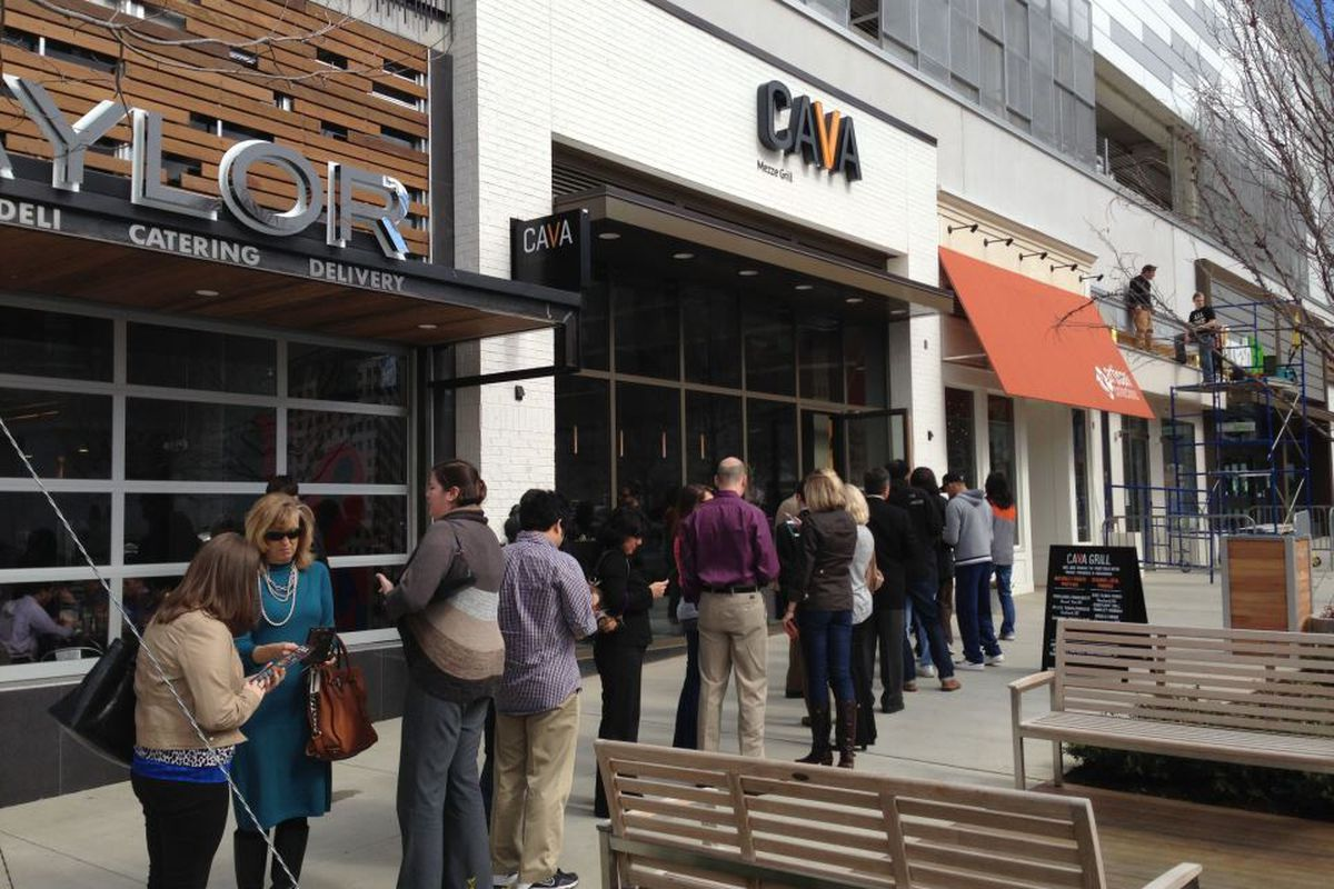 Opening Day at Cava Grill