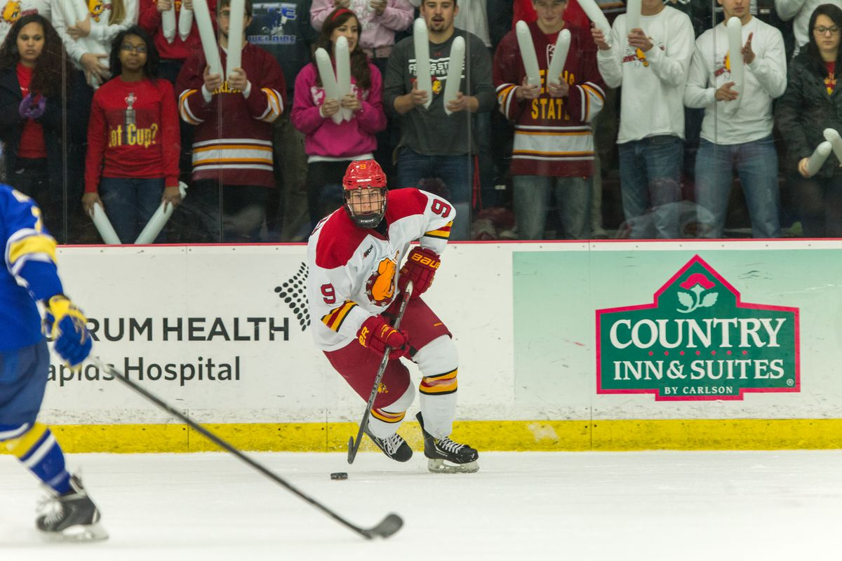 Two goals from Chad McDonald helped Ferris State top Michigan at home on Saturday