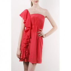 """Side Ruffle Tube Dress, <a href=""""http://www.pinkyotto.com/shop/product_info.php?products_id=800"""" target=""""_blank"""" rel=""""nofollow"""">Pinkyotto</a>, $148"""