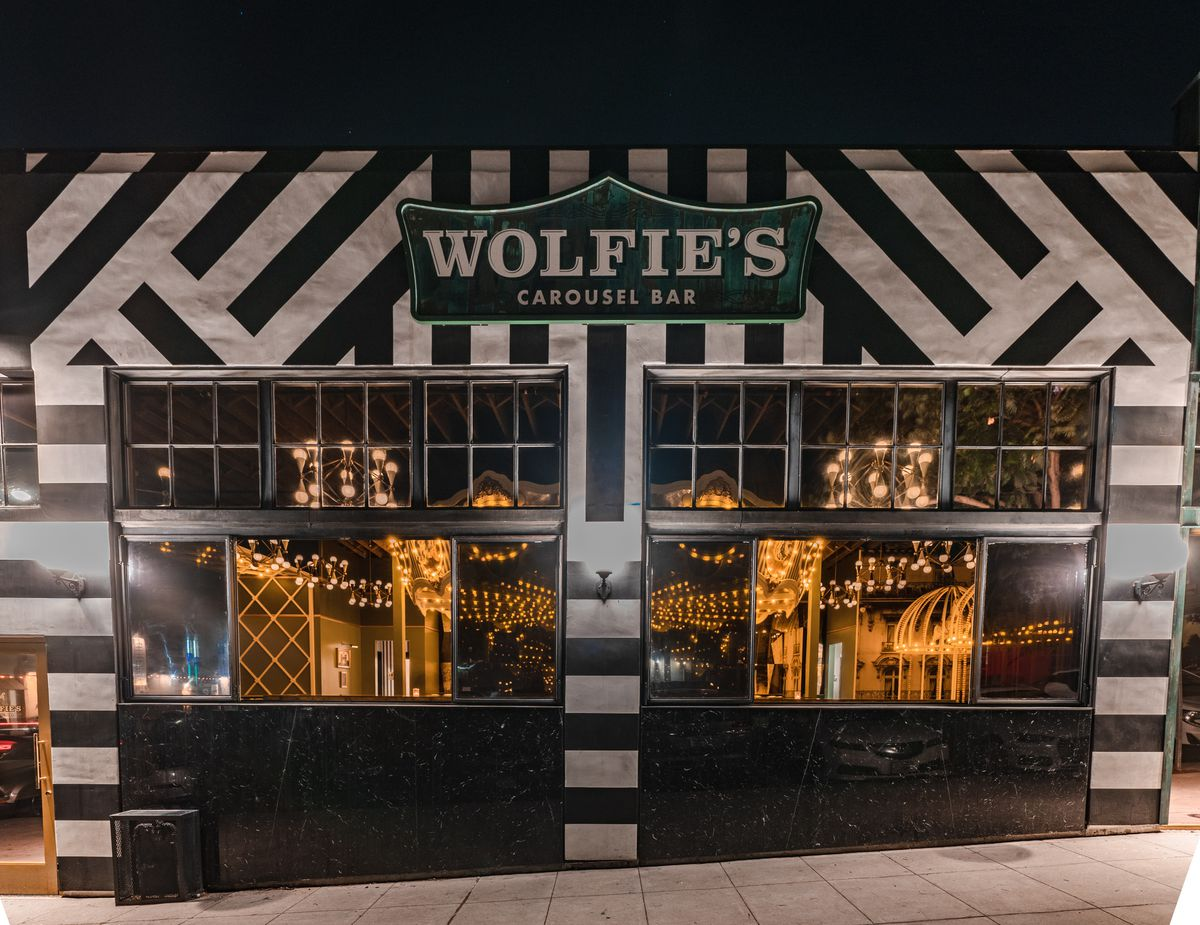 The exterior of Wolfie's Carousel