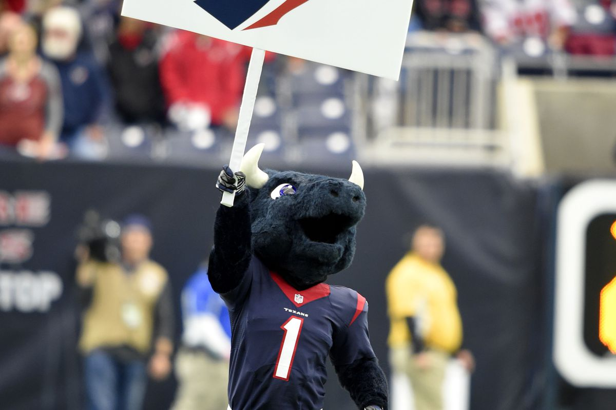 I saw the sign, and it opened up my eyes to hoping the Texans wouldn't get beat by 30 points today.
