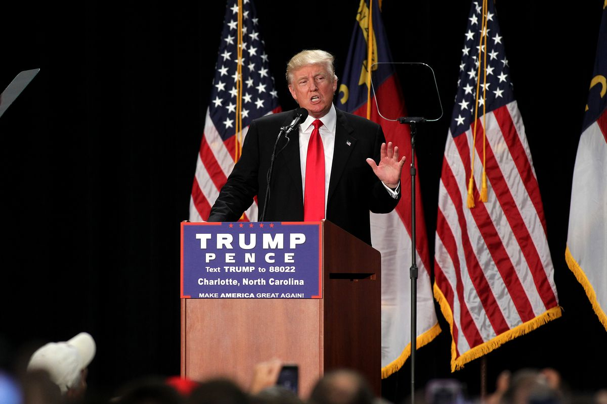 Donald Trump Holds Campaign Rally In Charlotte, NC
