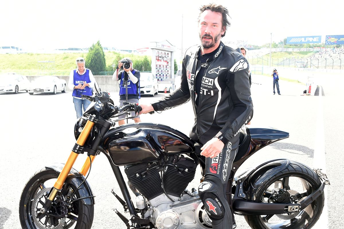 keanu reeves test rides his arch motorcycle in japan in july photo jun satogetty images