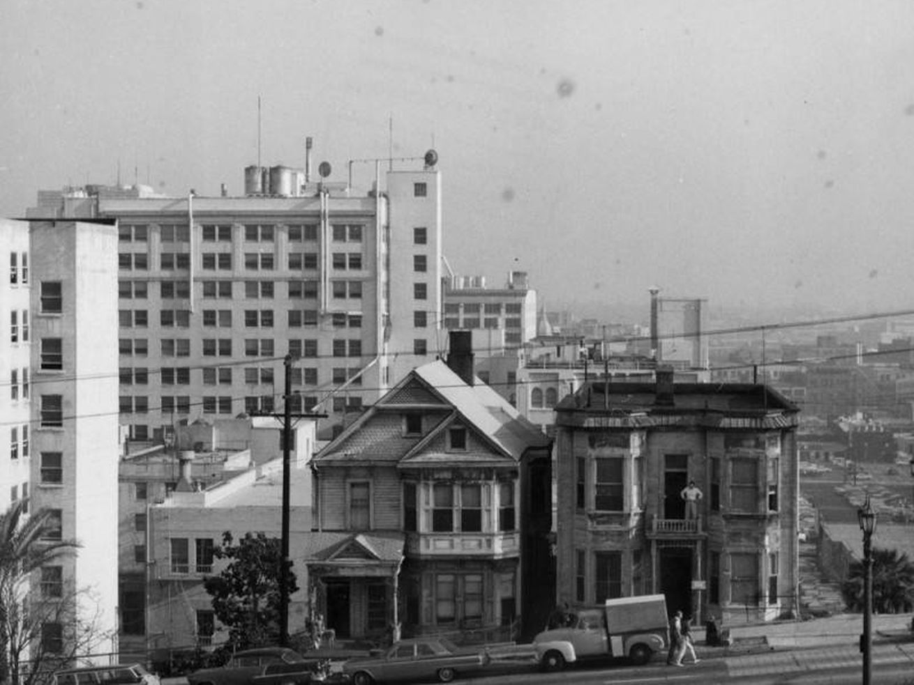 Bunker Hill as it appeared prior to redevelopment in the 1960s.