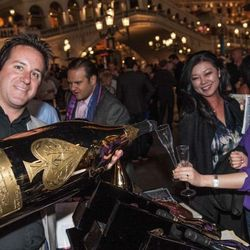 Bubble-Licious guests drink from a 15-liter bottle of Ace of Spades Champagne.