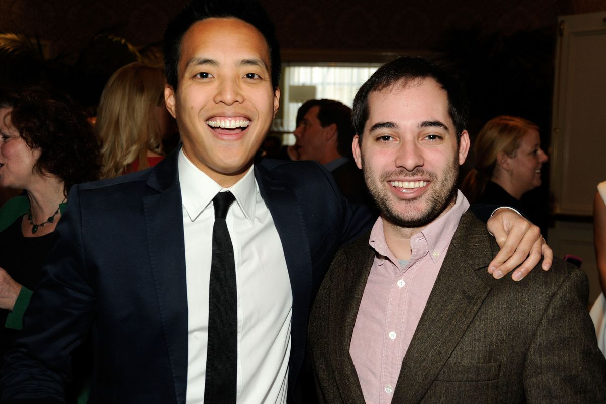 Parks and Recreation writers/producers Alan Yang and Harris Wittels