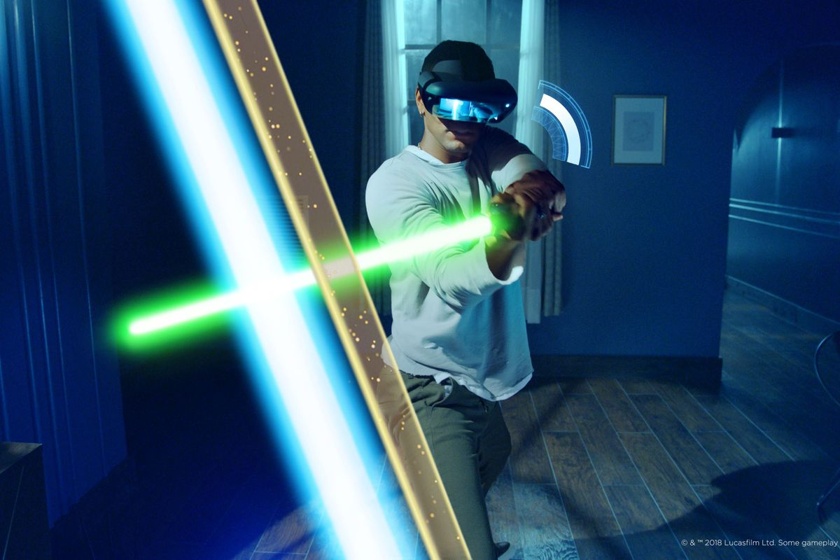 The Star Wars AR headset lets you have lightsaber duels ...