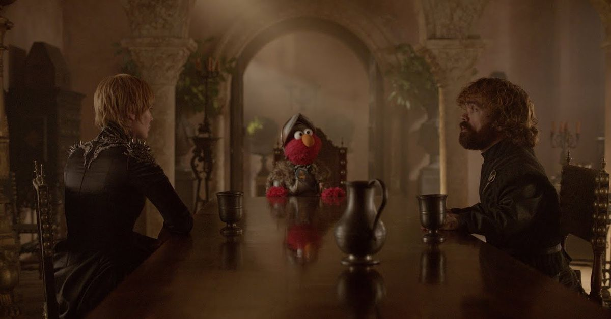 Elmo and Cookie solve GOT and West World problems in best crossover shorts of 2019
