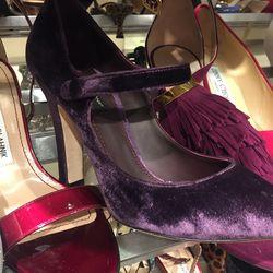 Dolce & Gabbana velvet Mary Janes, $318