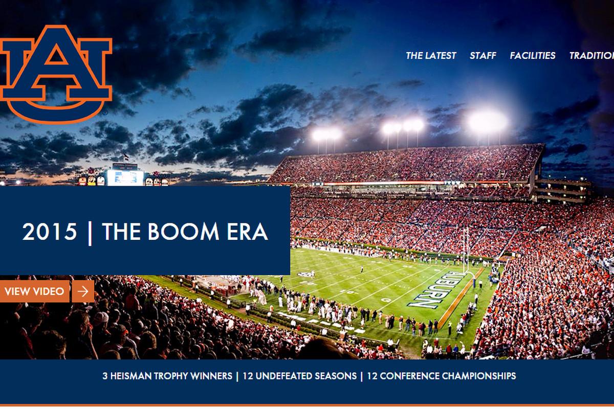 A screen shot of the home screen of AuburnFast.com
