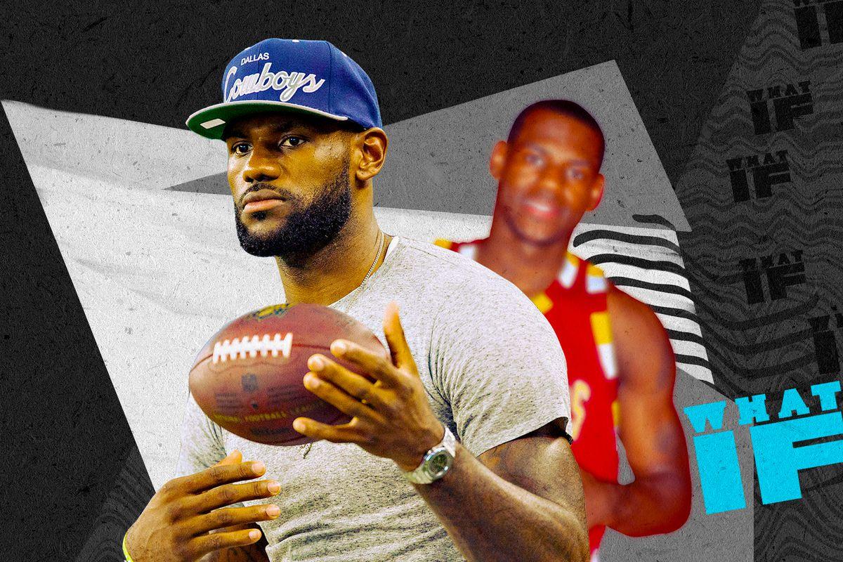 buy popular 3c132 40013 LeBron James' alternate history as a football player ...