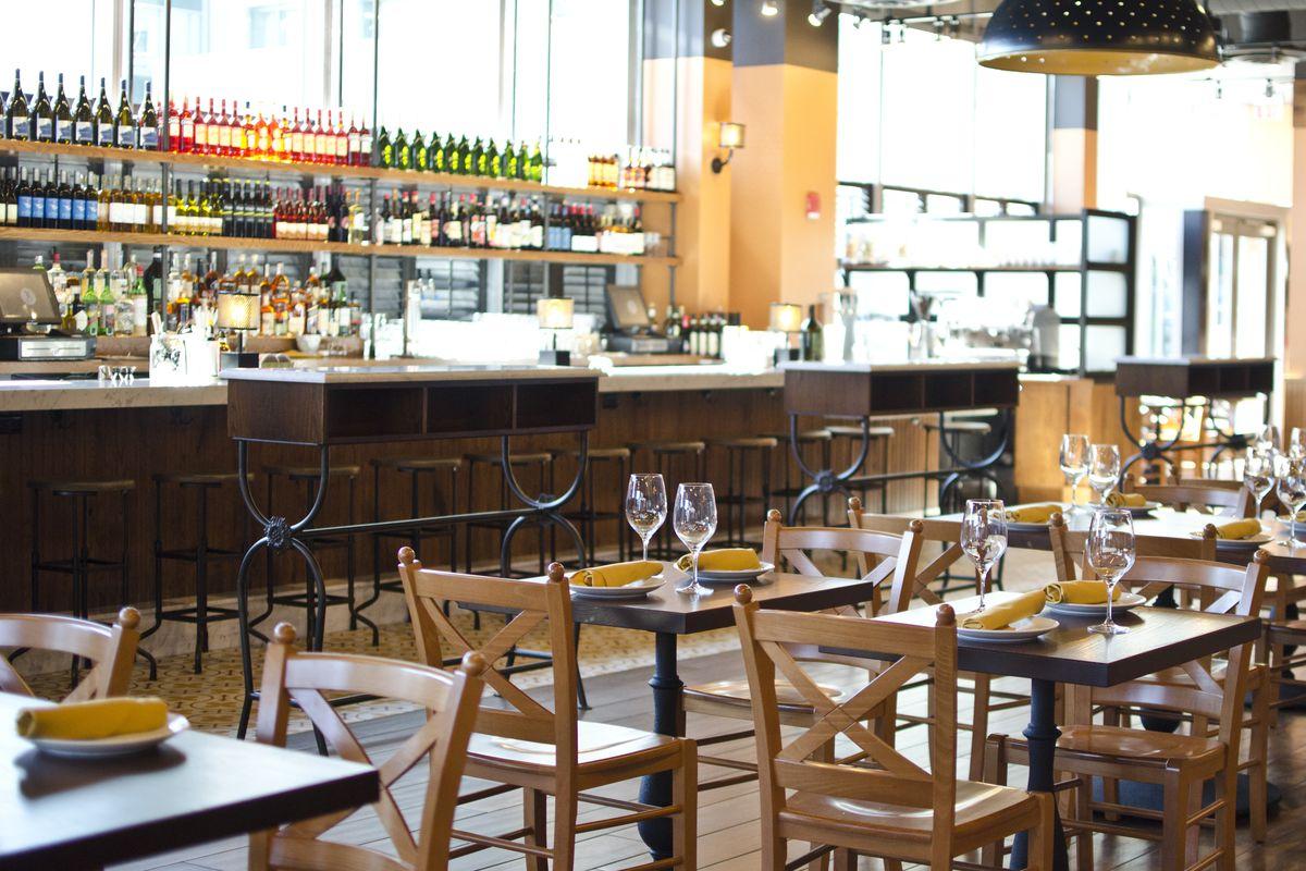 Mario Batali and Joe Bastianich opened their first Boston restaurant, Babbo Pizzeria, yesterday.