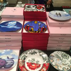 Rene Magritte plates, $25