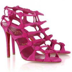 Christian Louboutin Neuron 100 suede sandals ($645)