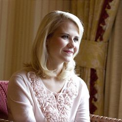 Elizabeth Smart, recently returned from her LDS mission to France, is interviewed in Salt Lake City on Wednesday.