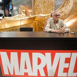 """In this film publicity image released by Wrekin Hill, Marvel Comic creator Stan Lee is shown in a scene from """"Comic-Con Episode IV: A Fan's Hope."""""""