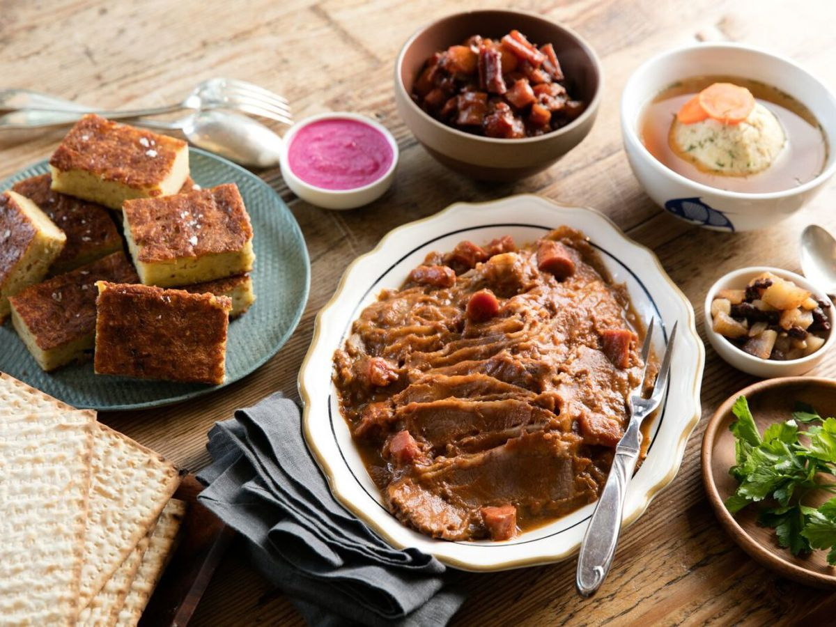 Passover dishes at Wise Sons