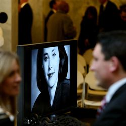 A public memorial service for former Speaker of the House Rebecca Lockhart is held in the Capitol rotunda in Salt Lake City on Thursday, Jan. 22, 2015. Lockhart died at her home in Provo on Jan. 17, 2015, from a rare brain disease.