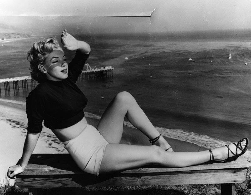 Marilyn Monroe at the beach