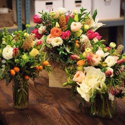 """<strong>Farmgirl Flowers</strong> is only offering large sized arrangements for V-Day, and currently the Burlap Wrapped Bouquet (<a href=""""https://farmgirlflowers.com/?page=fresh-flowers&vday=love"""">$70</a>) is the only available option. When you add shippi"""