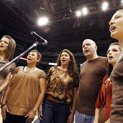 Porters Crossing auditions Friday for a chance to sing the national anthem during Utah Jazz games this season at EnergySolutions Arena in Salt Lake City.