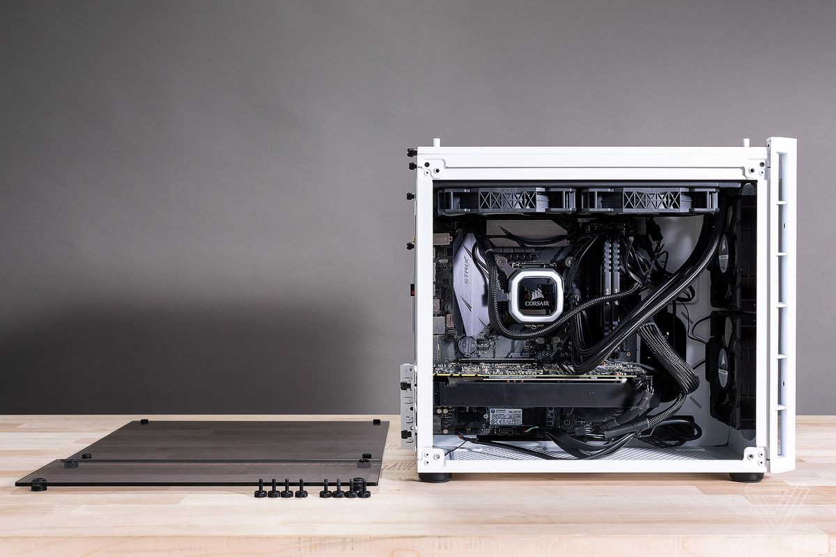 How To Build A Custom Pc For Gaming Editing Or Coding The Verge Computer Tower Parts Diagram Images Name Part Of Appeal Building Your Own Desktop Are Future Upgrades In This Theres An 8gb Nvidia Geforce Gtx 1080 Supplied By Pny But If Youre