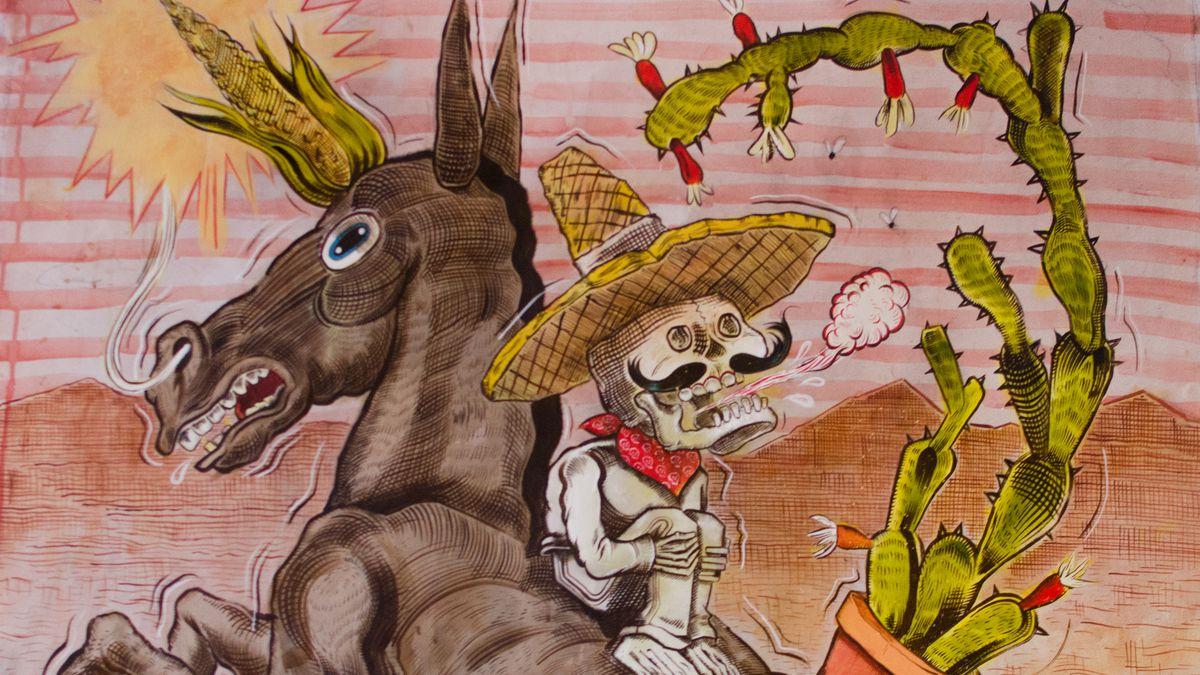 Artwork at Burro Bar by Raul Gonzalez III