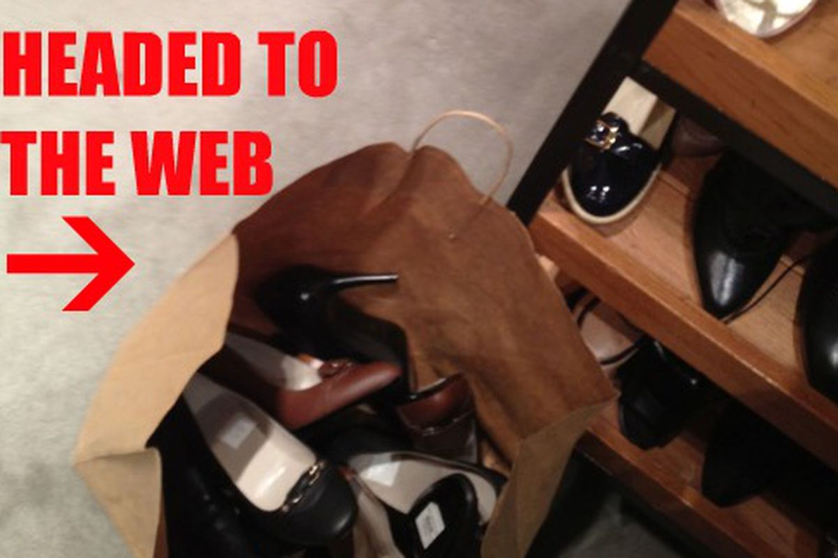 """Shoes from the store being pulled for web orders. Image via <a href=""""http://madisonavespy.blogspot.com/2011/12/barneys-scrambling-to-fill-custmer.html"""">Madison Avenue Spy</a>"""