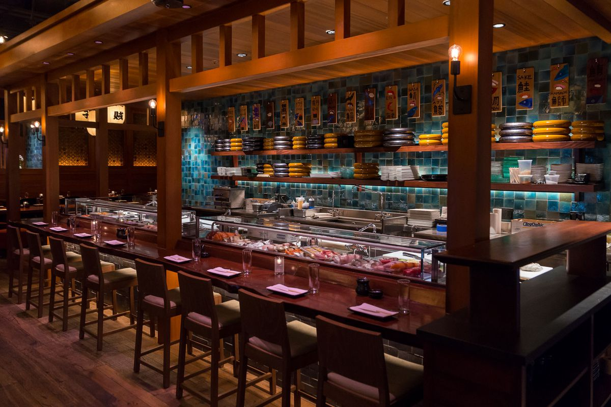 The sushi bar at Blue Ribbon Sushi Bar & Grill