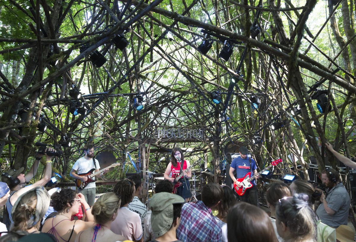 lucy dacus on the woods stage