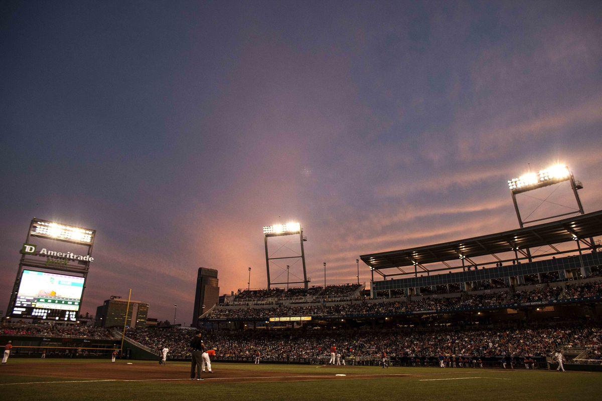 NCAA Baseball: College World Series-Florida vs Miami
