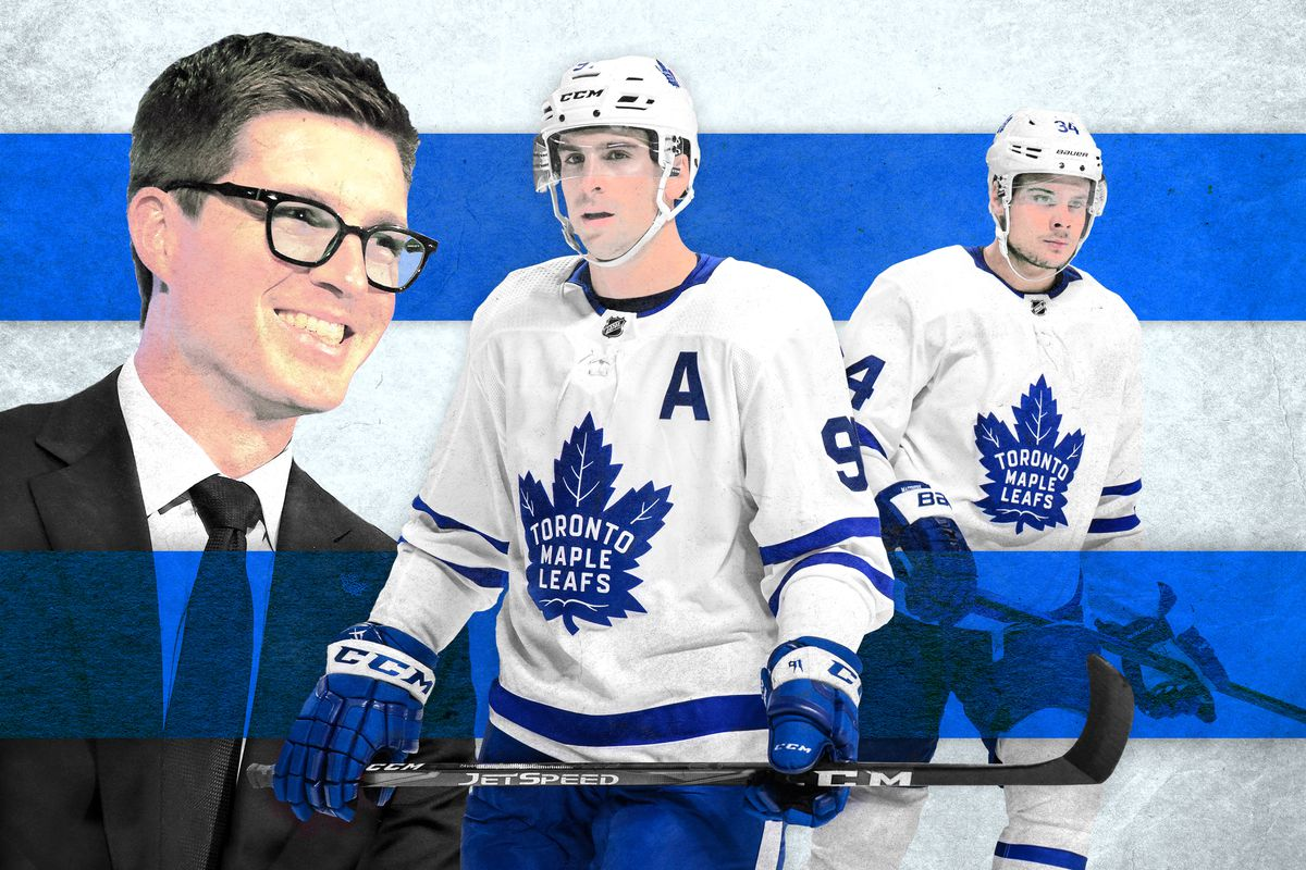 04f30b76cf3 Kyle Dubas, John Tavares, Auston Matthews Getty Images/Ringer illustration.  The photo from the first appearance of John Tavares as a Toronto Maple Leaf  ...