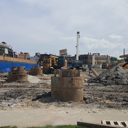 The lot where the hotel will be built on the west side of Clark Street -