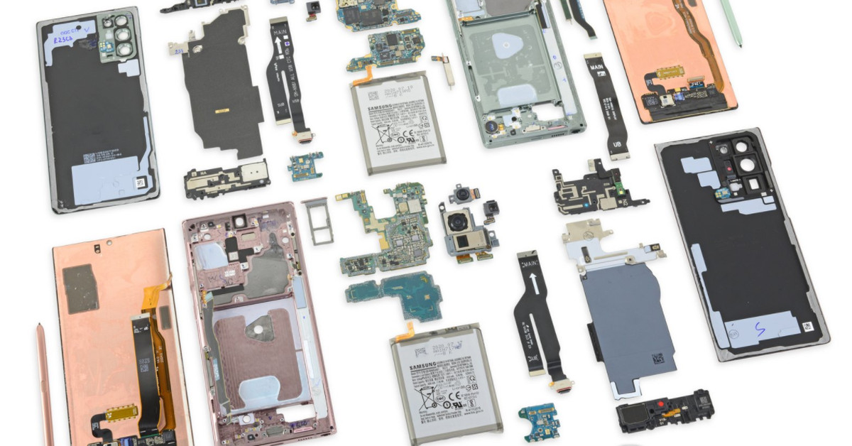 iFixit's teardown for the Samsung Galaxy Note 20 Ultra could explain why your phone is running hot thumbnail