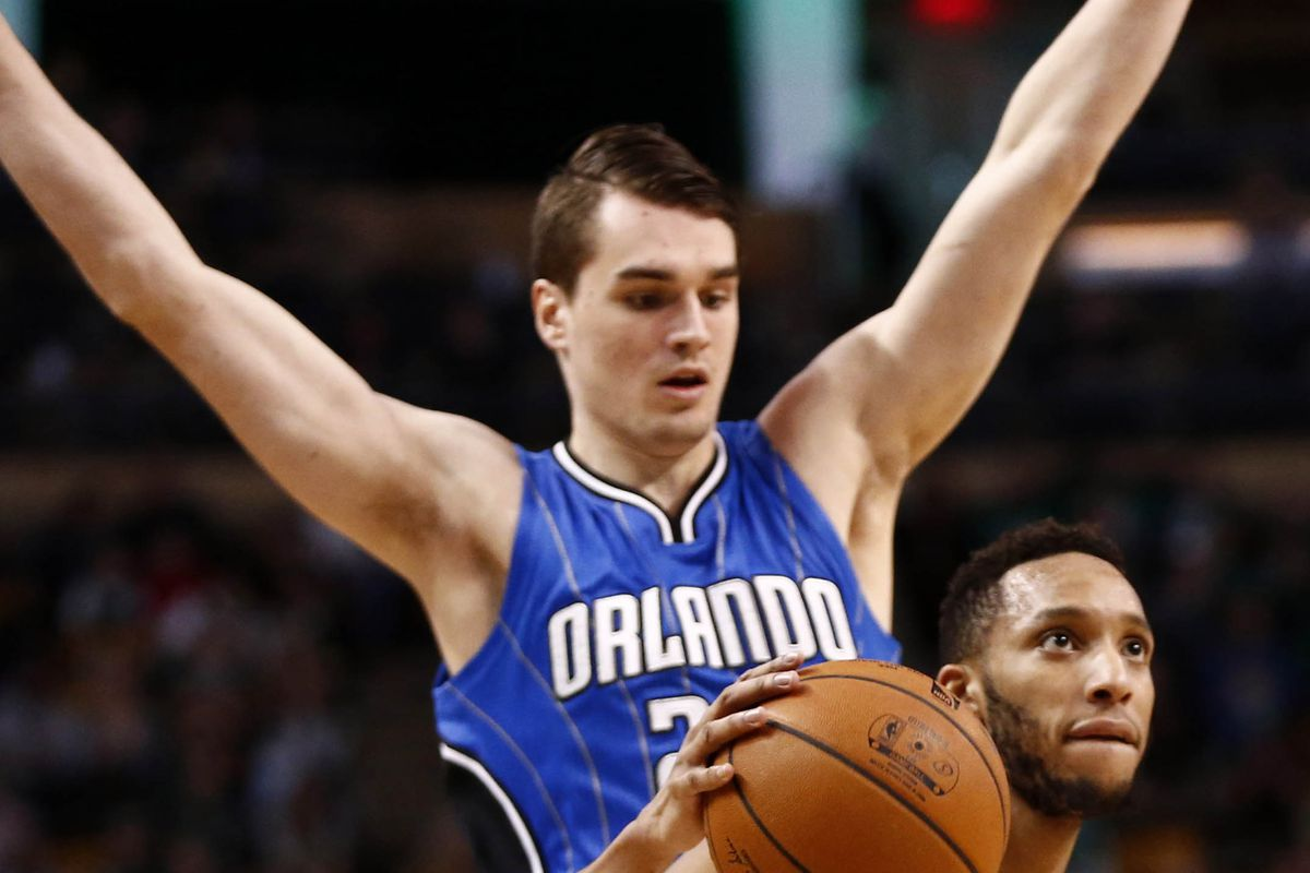 I'm not really sure what Mario Hezonja (top) is doing here, but he can score...