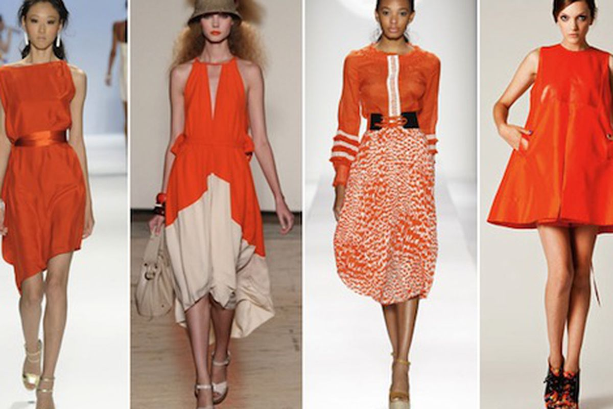 """Goddammit, why is orange the new hot color? Image via <a href=""""http://www.refinery29.com/10-spring-2011-trends-we-love---spring-fashion-week-trends.php"""">Refinery29</a>."""