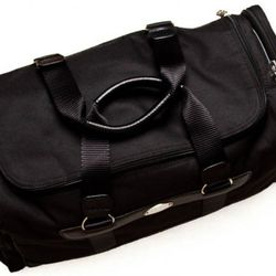 """<a href=""""http://www.brooksbrothers.com/IWCatProductPage.process?Merchant_Id=1&Section_Id=469&Parent_id=228&Product_Id=1488077&default_color=Black"""" rel=""""nofollow"""">Nylon Duffle Bag</a>, $398"""