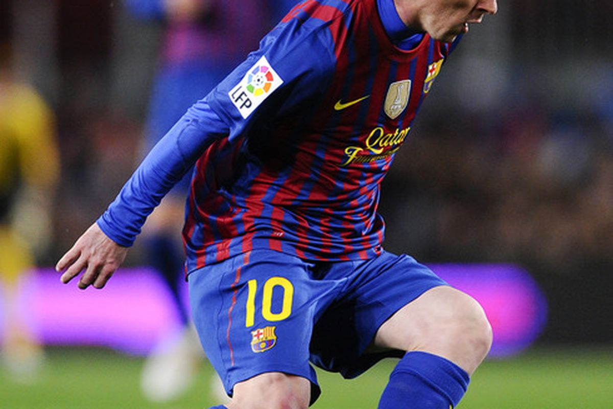 Somehow this was the only picture I could find of Messi from that record-breaking night