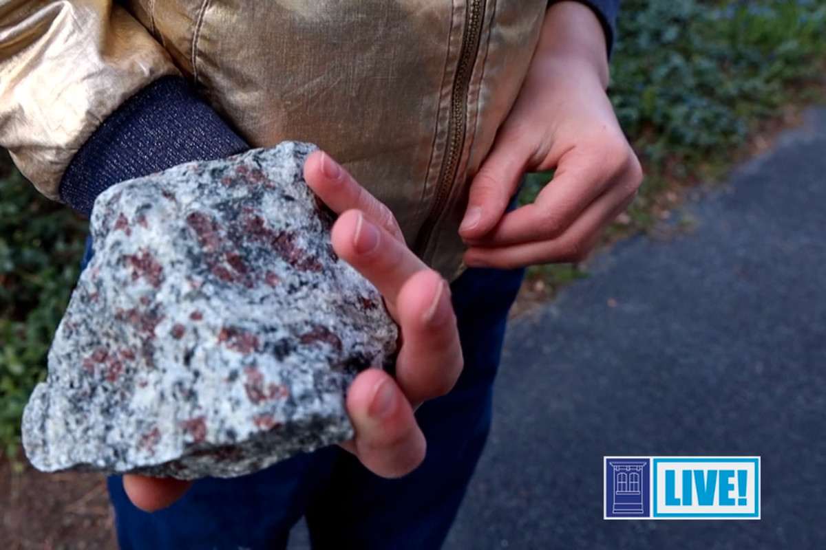 Holding a rock